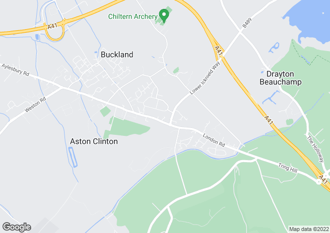 Map for Tompkins Close, Aston Clinton