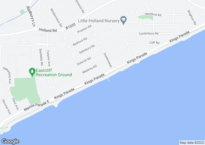 Map for 1 - 4 Longshores 77 Kings Parade Holland-on-Sea CO15 5JF