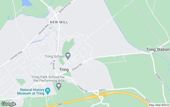 Map for Brown & Merry - Lettings, Tring Lettings