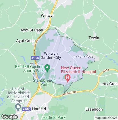 Map of property in Welwyn Garden City