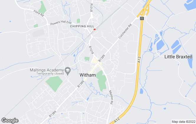 Map for cmRENT & SALES, Witham