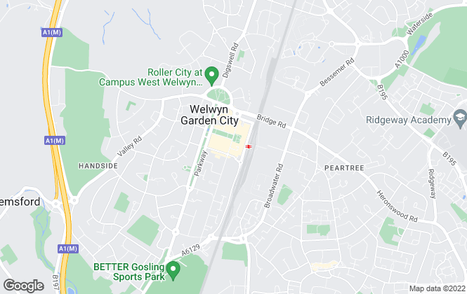 Map for Belvoir, Welwyn Garden City