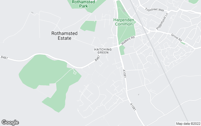 Map for Bellister, Harpenden