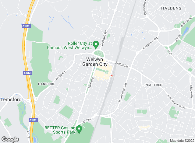 Map for Martin & Co, Welwyn - Lettings