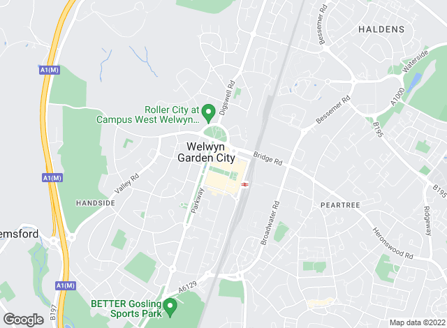 Map for Ashtons, Welwyn Garden City - Lettings