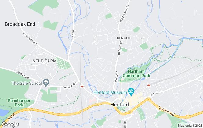 Map for Big Black Hen.com, Hertfordshire