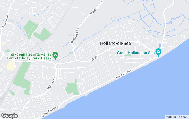 Map for Stoneridge Estates, Holland on Sea