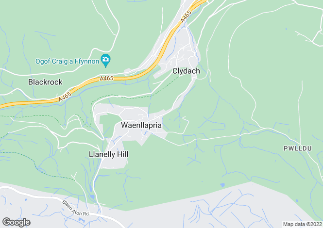 Map for Waenllapria, Llanelly Hill, ABERGAVENNY