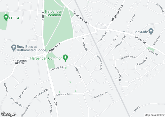Map for Cravells Road, Harpenden, Hertfordshire