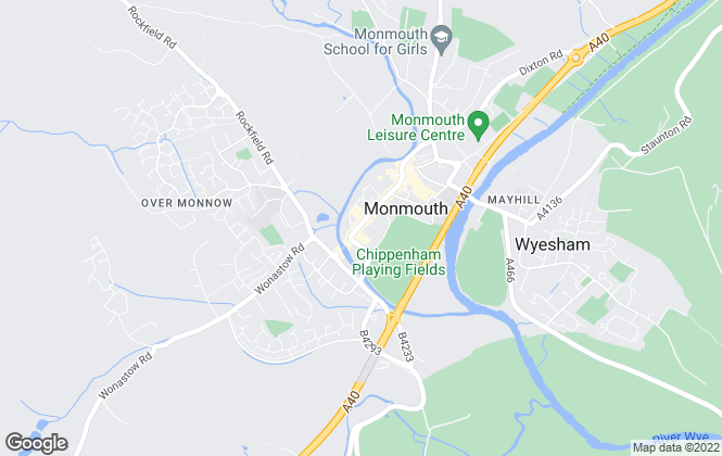Map for Bidmead Cook, Monmouth