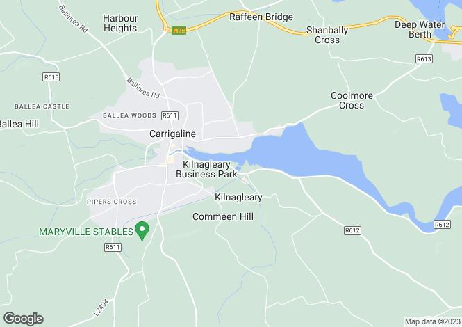 Map for Carrigaline, Cork