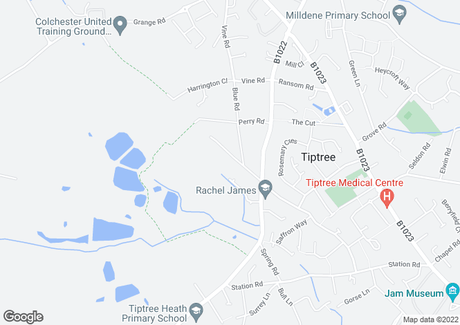 Map for Tiptree