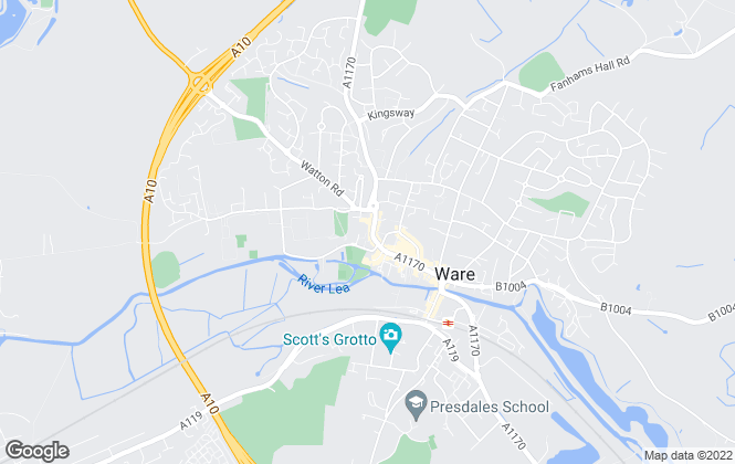Map for Masons Letting, Ware