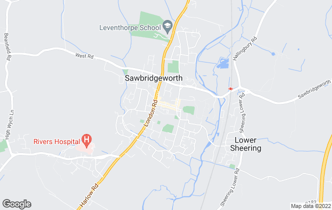 Map for Intercounty, Sawbridgeworth