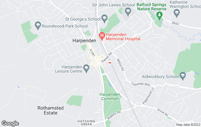 Map for Space Lettings Ltd, Harpenden