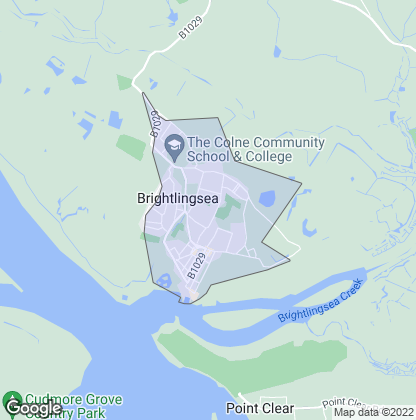 Map of property in Brightlingsea