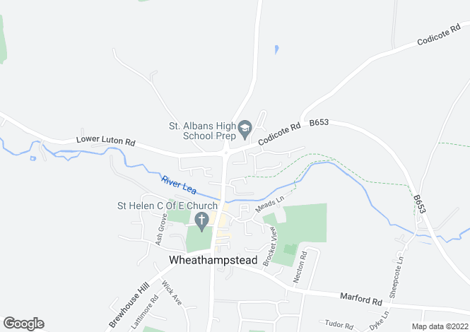 Map for Abbott John Mews, Wheathampstead, Hertfordshire