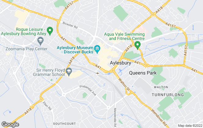 Map for Taylors Estate Agents, Aylesbury