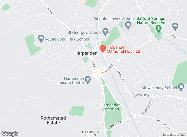 Map for Frost's Estate Agents, Harpenden Lettings