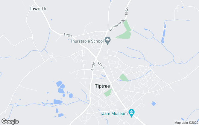 Map for Fine & Country, Tiptree
