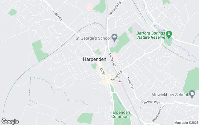 Map for Allsopp Estate Agents, Harpenden