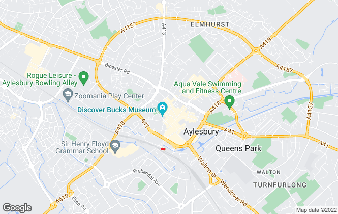 Map for Hillyards Estate Agents, Aylesbury