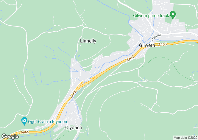 Map for Gilwern, Abergavenny, Monmouthshire