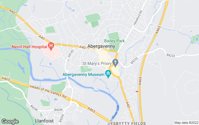 Map for Fine & Country, Abergavenny