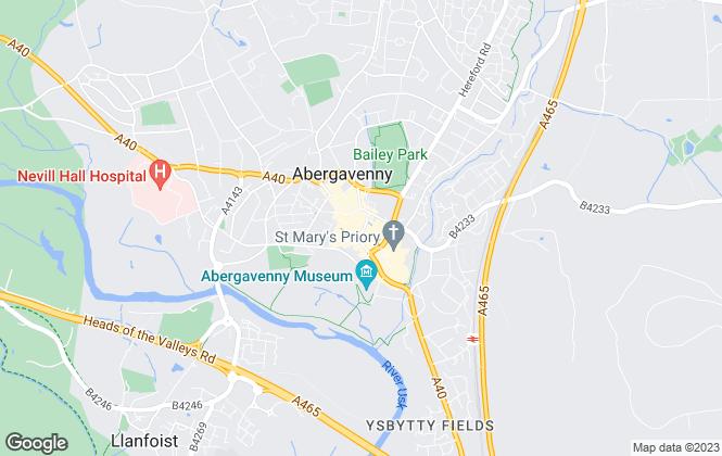 Map for J Straker Chadwick and Sons Ltd, Abergavenny