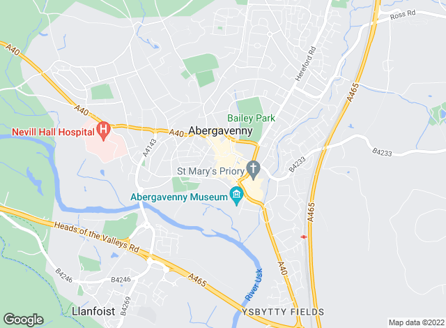 Map for Bidmead Cook & Waldron, Abergavenny