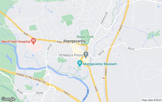 Map for Newland Rennie, Abergavenny