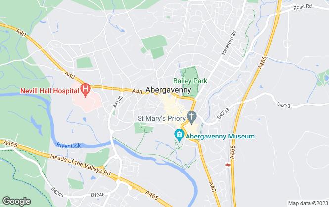 Map for James.Dean, Abergavenny