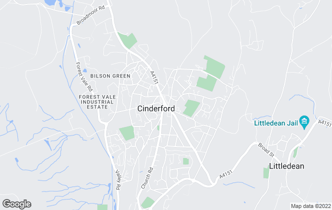 Map for Bidmead Cook, Cinderford Lettings