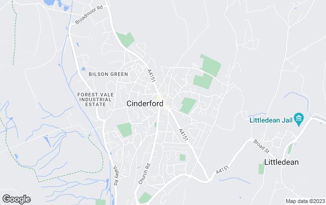 Map for KJT Residential, Cinderford