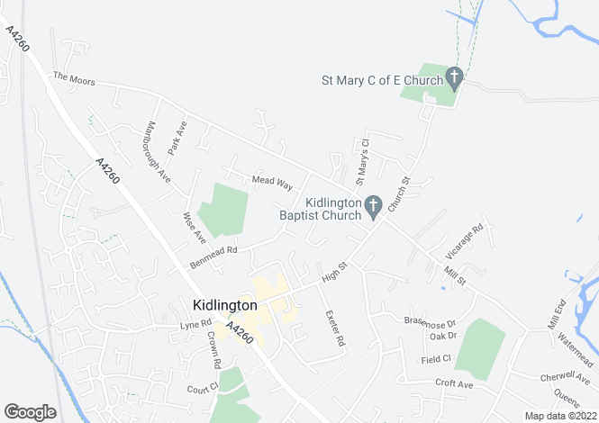Map for BENMEAD ROAD KIDLINGTON
