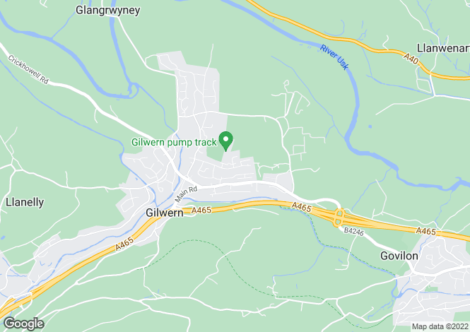 Map for Gilwern,