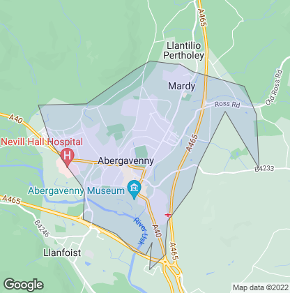Map of property in Abergavenny