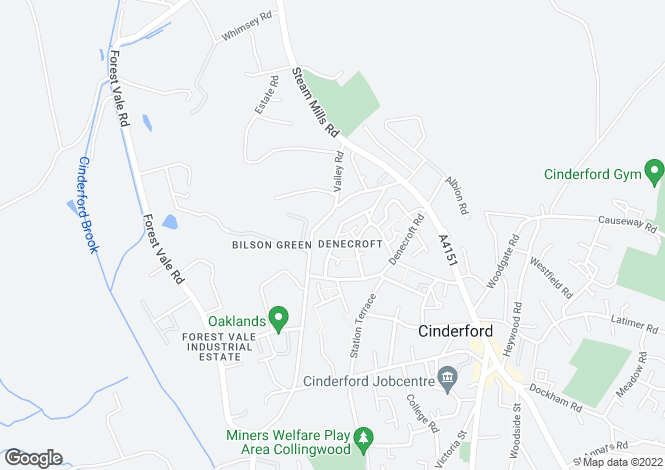 Map for Upper Bilson Road, Cinderford