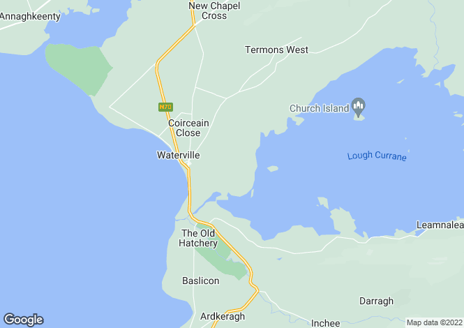 Map for Waterville, Kerry