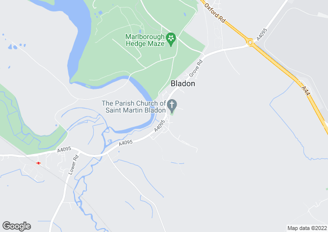 Map for Bladon, Woodstock