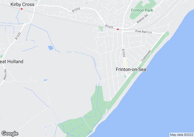Map for First Avenue, FRINTON-ON-SEA