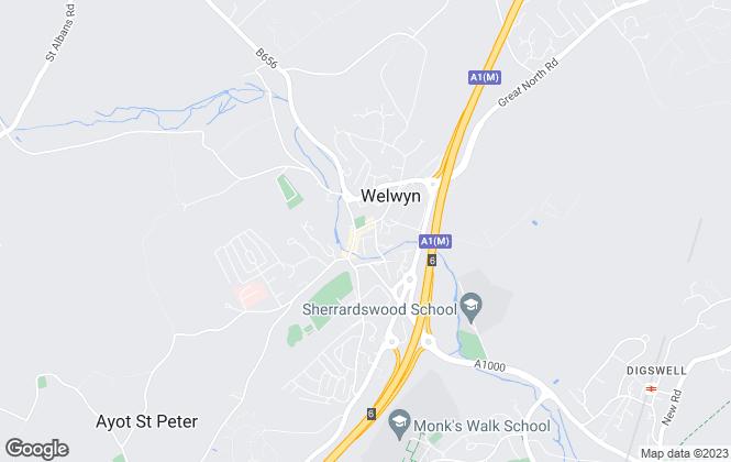 Map for Bryan Bishop & Partners, Welwyn