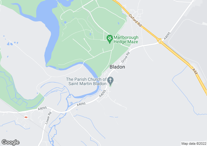 Map for Bladon, Nr Woodstock