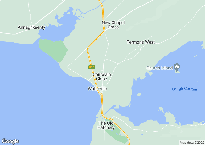 Map for Kerry, Waterville