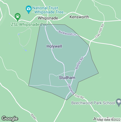 Map of property in Studham