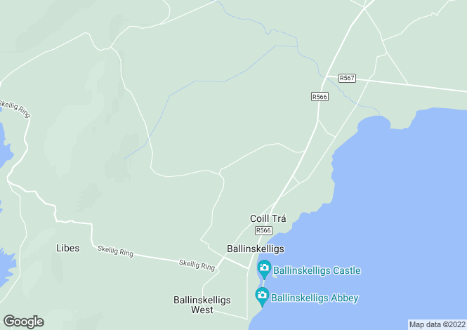 Map for Ballinskelligs, Kerry