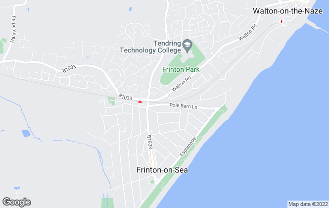 Map for My Moving Places, Frinton On Sea