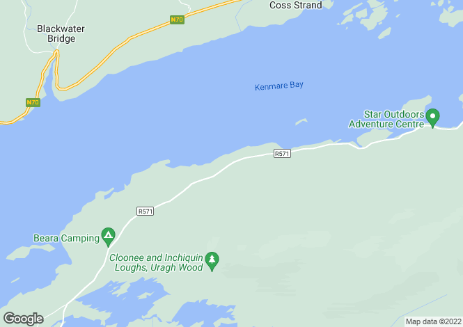 Map for Kerry, Kenmare