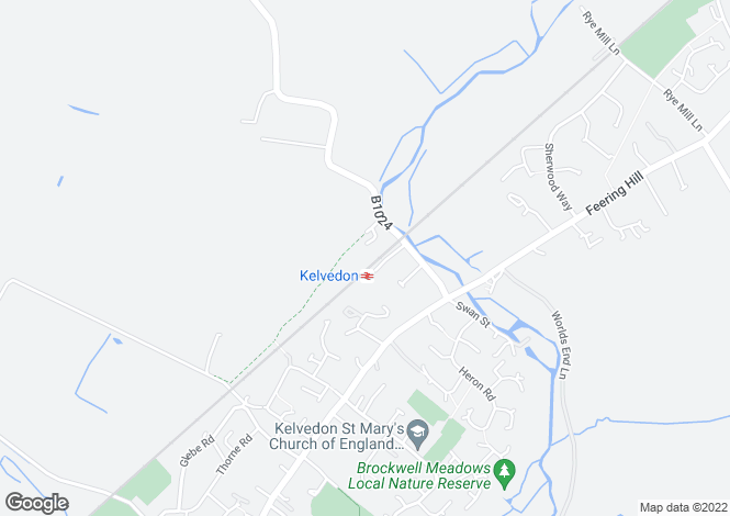 Map for Kings Meadow Court, Kelvedon, Essex