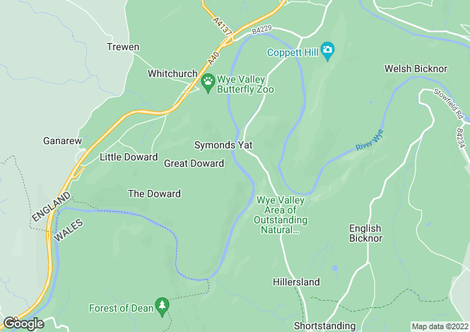Map for SYMONDS YAT WEST, HR9, Symonds Yat West, Ross On Wye